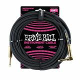 ERNIE BALL BRAIDED INSTRUMENT CABLE - STRAIGHT/ANGLE - BLACK/GOLD 10FT - P06081
