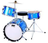 JUNIOR 3 PIECE DRUM KIT - METALLIC BLUE