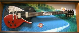 Gibson Indian Motorcycle Les Paul with display case