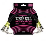 Ernie Ball Angled Patch Cable (3 pack) - Black