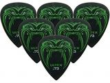 Jim Dunlop Fang Guitar Pick Player Pack - Black (Pack of 6)