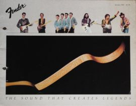 Fender Colour Guitar Catalogue (1982)