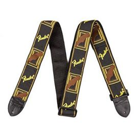 Fender Guitar Strap (2 Inch) - Monogrammed - Black/Yellow/Brown