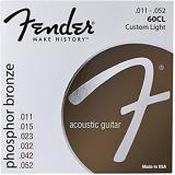 Fender 60CL Phosphor Bronze Custom Light Acoustic Guitar Strings (.011 - .052)