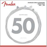 Fender Medium Light Stainless Steel Flatwound Long Scale Electric Bass Guitar Strings (50-100) - 9050ML