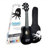 Octopus Soprano Ukulele Outfit inc bag - Black - Inc Bag