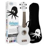 Octopus Soprano Ukulele - White - Inc Bag