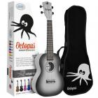 Octopus Concert Ukulele - Black Burst - Inc Bag