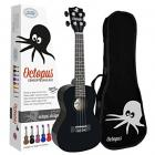 Octopus Concert Ukulele - Black - Inc Bag