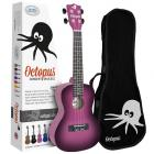 Octopus Concert Ukulele inc Bag - Purple Burst